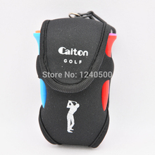 Free Shipping Black Golf Bag Golf ball small waist pack small bags, can hold two balls accessories, golf ball, golf tees