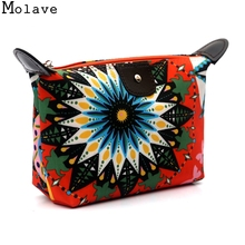 New Fashion Design Women Floral Print Cosmetic Toiletry Travel Wash Make Up Bag Storage Bags Clutch Handbag 2017 May4(China)