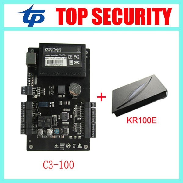 C3-100 Good quality Intelligent One-door Two-Way Access Control Panel Access Control Board And 1 PCS KR100E ID Reader<br><br>Aliexpress