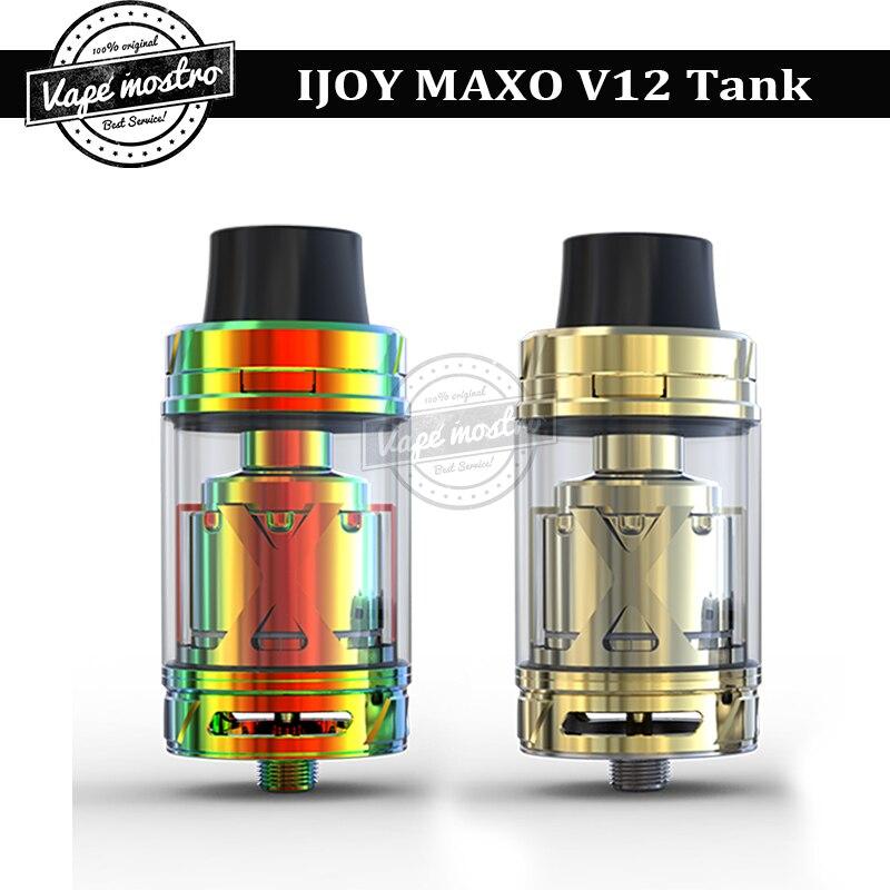 100% Original IJOY MAXO V12 RTA supreme kit sub ohm tank with V12-RT6 deck 5.6ml tank e-cigarette IJOY Maxo V12 vape atomizer<br><br>Aliexpress
