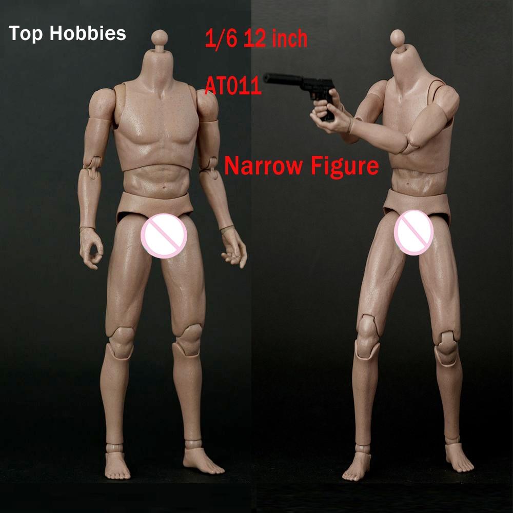 "1//6 Scale 12/"" Figure Narrow Shoulder Caucasian B001 Man Body Model Toys Doll"