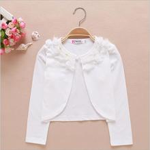 2,3,4,5,6,8,10,12Y 100% Odair Thin Full Sleeve White Girls Cardigans Lace Kids Cardigan For Girls Matching Dress KC-1540-2