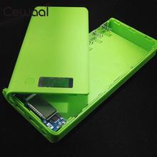 Cewaal Portable External Dual USB Backup Power Bank Charger Box DIY 8-Slot 18650 Battery Case Shell For Smart Mobile Phone(China)