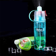 400ml/600ml Hot Sale Sports Spray Plastic Water Bottle PP PC Straw For Outdoor Bicycle Cycling Sports Gym Drinking Bottles HJ06