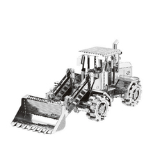 3D metal Excavation Machines Puzzle Series Toy Model Decoration DIY Assembly Car Model Learning JigsawEducational Toy Kids Toys(China)