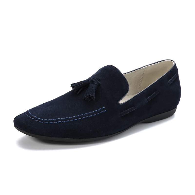 Mens Driving Shoes Summner New Genuine Leather Round Toe Blue/Black/Red/Brown Flat Shoes Male Loafer Man Moccasins<br>