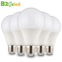 B2OCLED LED bulb lamps E27 220V 4pcs 6pcs 10pcs LED light Lampada LED Real Power Led Spotlight bombillas LED 3W 5W 7W 9W 12W 15W(China)