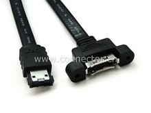Cablecc ESATA Male to Female extension cable w/ shield 50cm 6GB(China)