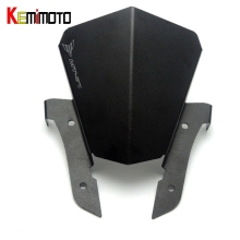 KEMiMOTO FZ07 MT07 FZ-07 Motorcycle Motorbike Windshield Windscreen Aluminum Black For Yamaha MT-07 FZ 07 MT 07 2013-2017