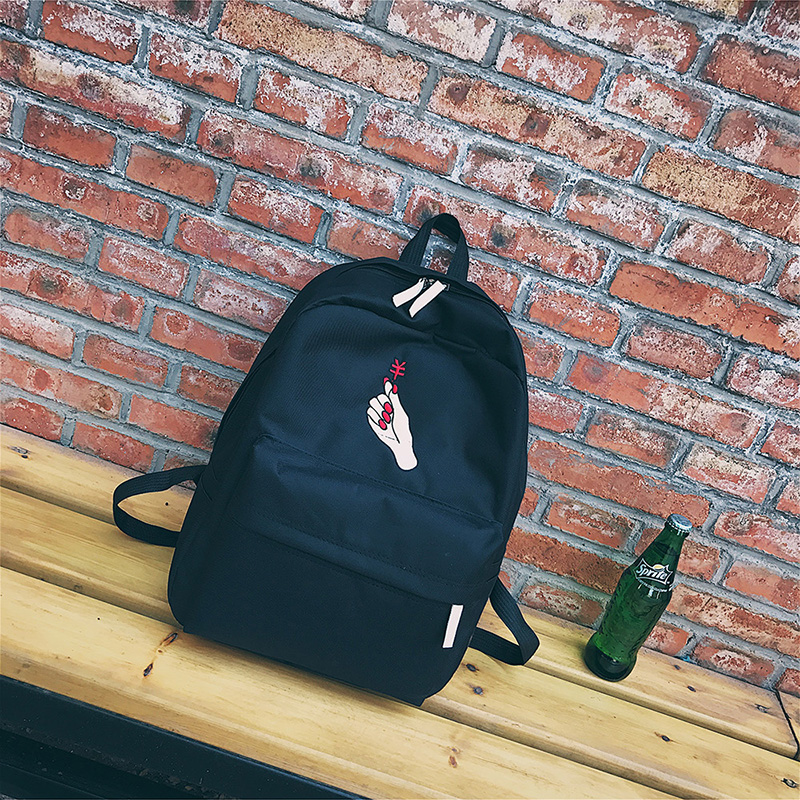 Men Canvas Backpack Cute Fashion Women Rose Embroidery Backpacks for Teenagers Women's Travel Bags Mochilas Rucksack School Bags (13)