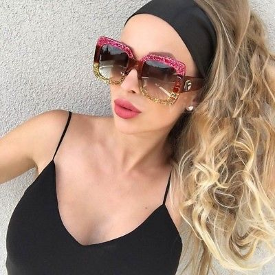NEW-Oversized-Square-Luxury-Sunglasses-Gradient-Lens-Vintage-_1