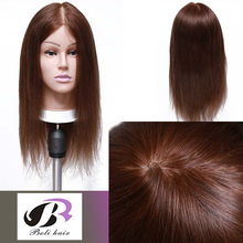 "18"" Female Mannequin Head With Human Hair Training Doll Head Manikin Head Hair Styling for Hairdresser Practice Salon Mannequin"