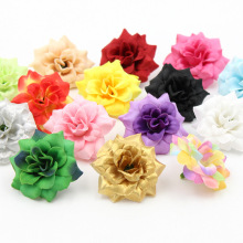 5pcs/lot 4.7CM New style Silk Flower Rose Flower heads wreath bouquet pectoral flower Wedding flowers decorate materials