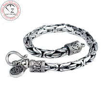 925 silver man s925 sterling silver bracelet men jewelry vintage style bangle minecraft pulseira masculina european HKB03(China)