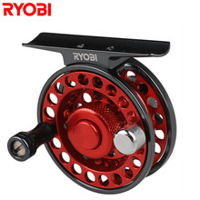 RYOBI Mini Pie Ice Fishing Reel 0.235mm-100m Raft Fishing Line Wheel Japan Carretilhas De Pescaria Moulinet Peche Carp Fish Coil(China)