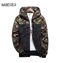 NIBESSER Brand Military Style Jacket Men Camouflage Patchwork Long Sleeve Jacket Streetwear Classic Fashion Jackets Plus Size5XL(China)