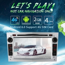"7"" Silver Panel Android 6.0 (64bit) DDR3 2G/4G LTE Car DVD GPS Radio Head Unit For Opel Combo/Utility/Vivaro/Meriva (2006~2010)"