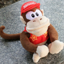 "2016 Hot Sales Brand Free Shipping 1pcs Super Mario Bros Donkey Kong 12"" (30CM) Plush Doll Diddy Kong macacos animais"