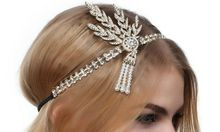 The great Gatsby headband and flaper crown wedding hair accessories for girls women wholesale(China)