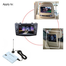 KKmoon Mini Design Car DVD TV Receiver Monitor Analog TV Tuner Strong Signal Box with Antenna