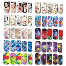 Water Transfer Nail Beauty Design Decal Flowers/Cartoon/Lady/Beach Summer Polish Gel Full Tip Nail Art Tattoos Sticker BN121-180(China)