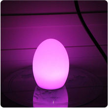 D22*H28cm IP65 Waterproof PE Material 16 Color Change RGBW LED Egg Light Glowing Table Lamp Night Light for Home Furniture 1pc(China)