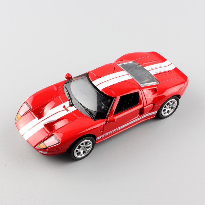 1:32 Scale brand small Ford GT 1 mustang Sport die casting race Automotive car pull back model Engine toy gift for children red(China)