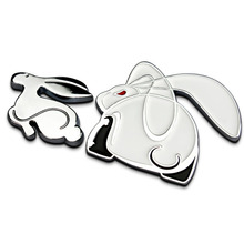 1PC Quality Metal Rabbit Car Stickers Emblem Car Styling for VW Golf R20 Scirocco Auto Refitting Car Exterior Accessories