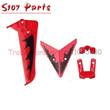 wholesale 5 Set Tail Decoration Fin S107-03 For SYMA S107G 3CH Gyro S107 RC Helicopter Spare Parts(China)