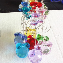 100pcs/lot 30mm Many Colors Available Crystal Suncatcher Prism Diy Hanging Balls Chandelier Parts For Home Curtain Lamp Deco