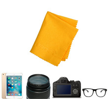 10pcs Yellow Sauare Soft Microfiber Eyeglass Glasses Camera Lens Cleaning Cloth