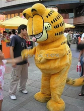 ohlees Real Pictures Deluxe Garfield cat Mascot costume Adult SIZE,Halloween Party Children Fancy dress party school