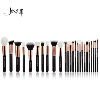 Jessup Rose Or/Noir Professionnel Maquillage Pinceaux Make up Brush Outils kit Fondation Poudre Blush naturel-synthétique cheveux