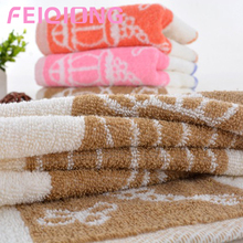 Solid Cotton Face Towels with Lantern Patterns Design High Absorbent Face Towels(China)