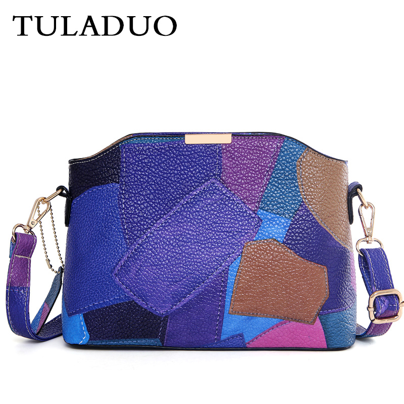 Tuladuo Furly Candy Panelled Bags Messenger Bag Women Famous Brands Sac a Main Crossbody Ladies Shoulder Bag New Female Clutches<br>