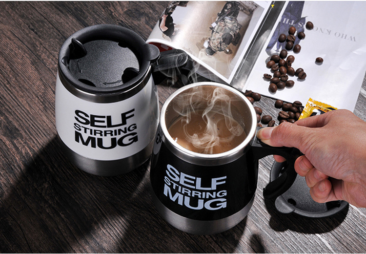 Stainless Steel Self Stirring Mixing Mug Protein Shaker Multifunction Smart Mixer Blender Cup Automatic Electric Coffee Mugs (3)
