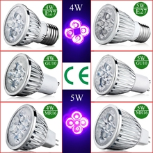 4W 5W E27 GU10 MR16 UV LED Ultraviolet Spotlight Lamp Bulb AC 85-265V /12
