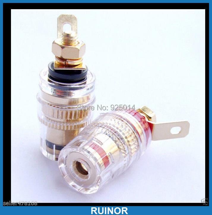 8pcs High Quality Copper Binding Post for Speaker Amplifier 4MM Banana Plug<br><br>Aliexpress