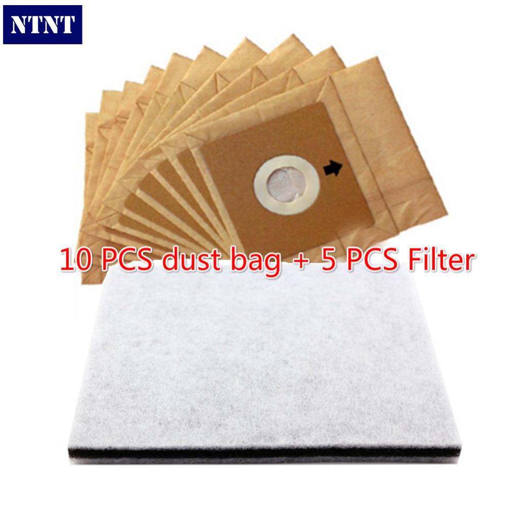 NTNT Free Post New 10 pcs paper dust bag 5pcs filter suitable model for philips for LG Electrolux dust bag<br><br>Aliexpress