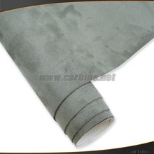 Exclusive listing suede fabric vinyl wrap grey color 1.35*15m small size(China)