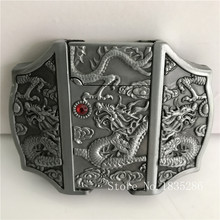 Retail New Style Silver Dragon lighter Belt Buckles With 92*67mm 148.2g Metal Men Belt Head Jeans accessories For 4cm Wide Belt