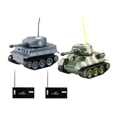RC Battle Tank Toys 2 pieces Mini Plastic Material Battery Power Tank Remote Control Army Tanks Infrared Tanks Toys for Children(China)
