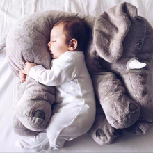 60/33CM Large Stuffed Plush Animal Elephant Toys Kawaii Soft Giant Elephant Sleeping Pillow Kids Toys Baby Calm Cushion Doll D20(China)