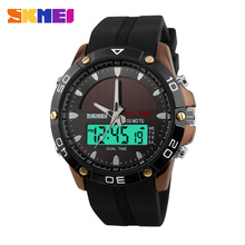Skmei Solar Powered Watch outdoor sport digital quartz Solar wrist watches men Relogio Masculino digital watch