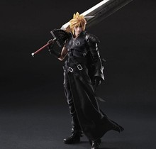 27cm Final Fantasy Action Figure Play Arts Kai Cloud Strife Collection Model Toy Cloud Strife Playarts Doll