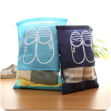 Doreen Box Drawstring Non-Woven Fabric Travel Shoe Bag Dustproof Cover Travel Pouch Storage Organizer 2 Size 1PC(China)