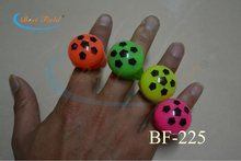 Free Shipping 36pcs/lot soft TPR led finger light LED Flashing Light Up footaball Blinking Party Rave Glow Finger Ring