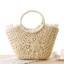 2017 New Designer Lace Handbags High Quality Tote Bags for Women Handbag Summer Woven Beach Bag Woman Rattan Straw Bag P835