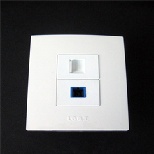 86x86 mm Free Shipping Wall Plate Fiber SC Optical Interface RJ45 Network Jack Panel Socket Type Connector Chpea Price