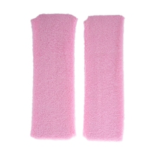 Light Pink Athletic Sports Terry Stretchy Sweatband Headband 2 Pcs